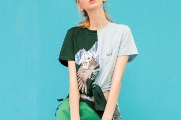 撞色元素的T恤帮你提高性感值