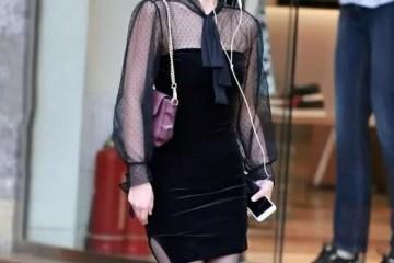 香甜小姐姐黑纱面料好气质大街上无人能敌赶着去见小女友